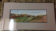 TX ESTATE HILL COUNTRY WEST TEXAS  WATERCOLOR PAINTING PAT CRENSHAW