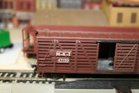 M-K-T CATTLE CAR LIVESTOCK BROWN 40 foot  kit 1/87 h0 scale for layout