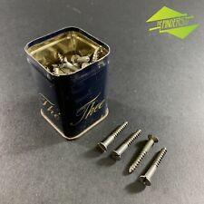 LOT X45 VINTAGE STEEL COUNTERSUNK 32mm X 4mm SLOTTED SCREWS WOODWORK FURNITURE
