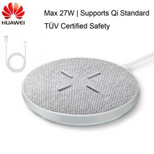 Huawei Qi Wireless Charger 27W Fast Charging Pad For Mate 30 P40 Pro iPhone 12
