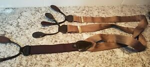 Silk Herringbone Graphic Leather Button Tab Suspenders Braces Made in England