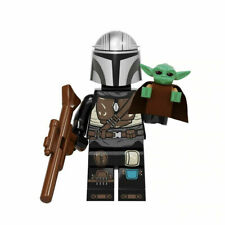 The Mandalorian With Baby Yoda - Star Wars Lego Moc Minifigure Toys