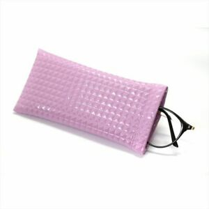 Sunglasses Bag Fake Leather Glass Case Pouch Portable Storege Nearsighted Gold