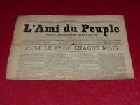 [PRESSE XIXe] MAXIME LISBONNE / L'AMI DU PEUPLE # 7 -2e S. DIM 22 FEV 1885 Rare!
