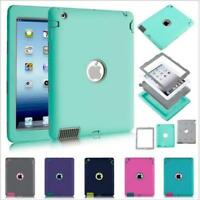 iPad 2 3 4 Air 2 & MINI Defender Case Shockproof Cover Built-in Screen Protector