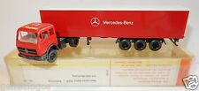 WIKING HO 1/87 CAMION MB MERCEDES-BENZ 1626 SEMI REMORQUE rouge in box