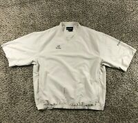 Retro FootJoy Men Sz XL S/S Pullover Golf Wind Shirt Jacket Tan FJ Hawaii Bay