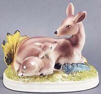 Deer Doe and Fawn Porcelain Figurine