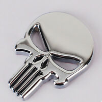 For The Punisher Skull 3D Motorcycle Car Emblem Badge Logo Decal Metal Sticker
