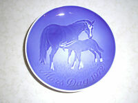 B & G BING & GRONDAHL 1972 plate Mors Dag MOTHER'S DAY horse mare and foal