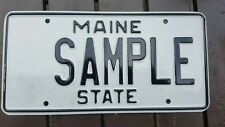 2000's MAINE ME STATE SAMPLE LICENSE PLATE SAMPLE TAG VACATIONLAND!