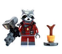 NUOVO COSTRUZIONI LEGO Rocket Raccoon minifig blu scuro vestito