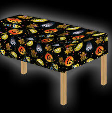 Cute Halloween Tablecloth - Table Cover Decoration Halloween Party Witch Pumpkin