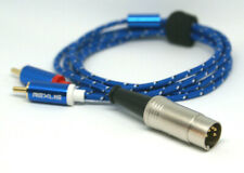 Bang Olufsen Tandberg  DIN to RCA Male Gold Braided Audiophile Cable 5ft NEW