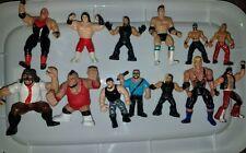 wwe wcw jakks mattel titan hasbro Mini Lot 13 Wrestling figures vintage