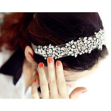 Lace Rhinestone Net Yarn Hair Head Bands Hoop Accessories Hairband Headbands T1