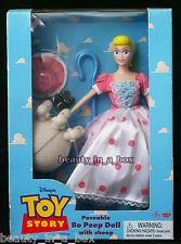 Poseable Bo Peep Doll with Sheep Disney Toy Story Rare Thinkway Light Wear