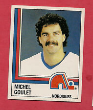 RARE 1987 PANINI # 163 NORDIQUES MICHEL GOULET  STICKER   CARD