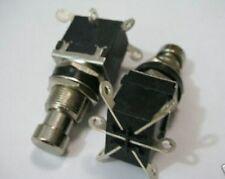 2pc 2PDT DPDT Latching Stomp Foot Pedal Push Button 9v-12v Switch Solder Lug 202