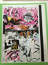 Captain Marvel #3 Page 20 Original Color Guide Marvel Production Art Sign Ramos