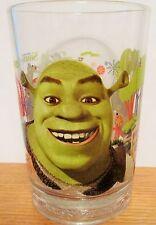 SHREK   2007 MCDONALDS  BEWARE OF OGRES   PROMOTIONAL HEAVY DUTY GLASS