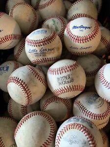 90 Used Baseballs leather