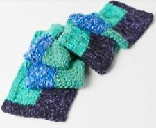 NWT UO URBAN OUTFITTERS THICK CHUNKY CRAFT KNIT PLUSH SCARF BLUE MULTI SOFT COZY