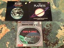 """SPACE THEME 3 LP Lot Classical JOHN WILLIAMS """"Pops In Space"""" HOLST PLANETS BBC"""