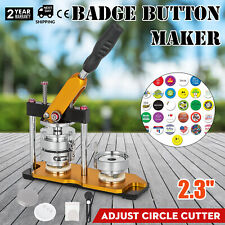 58mm(2.28'') Badge Button Maker Machine Metal Rotate Circle Badge Punch Press