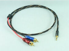 3.5mm Male Stereo to AV Dual RCA Pailiccs Audio Signal Cable (US Belden 8723)