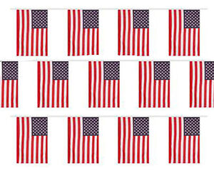 USA Bunting 20 Flag America 4th July United States 10M 33FT American Stars Flags
