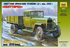 ZVEZDA 3574 - Soviet Military Truck (1,5 t) GAZ-MM 1943- WWII / Scale Model 1/35