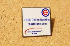 Chicago Cubs Free Online Banking charterone.com lapel / hat pin MLB Bank