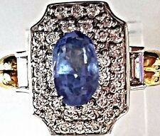 1.77 Carat Natural Ceylon Blue Sapphire Genuine Loose Stone Oval Gemstone
