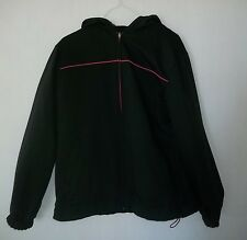 Everlast Reversible Womens Hooded Jacket Black Pink Strip Size Large