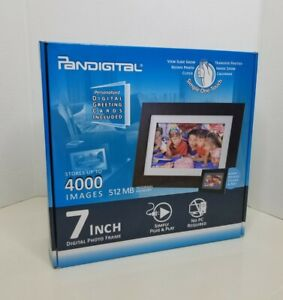 "NEW Pandigital Panimage 7"" Digital Photo Frame Holds 4000 Images 512mb Memory"