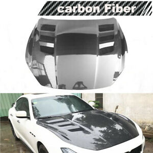 Fit For Maserati Ghibli 2014-2020 Engine Hood Bonnet Cover Lid Carbon Fiber