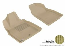 Fits 2006-2011 Chevrolet Hhr Row 1 KAGU Carbon Pattern Tan Customize Floor Mat