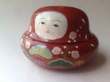 "Vintage Gift box nesting doll  wood  12 piece Hand painted 4.5""tall"