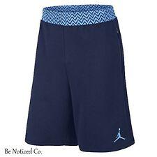 Nike Jordan 12 French Terry Shorts XL Blue Retro Casual Basketball Gym New