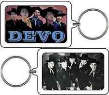 DEVO KEYCHAIN Cowboys Photo Lucite Design NEW OFFICIAL MERCHANDISE Rare