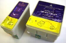 SET OF PRINTER INK CARTRIDGES (BLACK & COLOUR) FOR EPSON STYLUS C44 C 44 INKJET