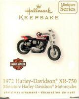 Hallmark Ornament 1972 Harley Davidson Motorcycle XR 750 12th Miniature Series