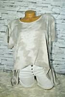 Italy T-Shirt Vintage Gr. 36 38 40 42 Shirt Oversized Long Puder beige blogger
