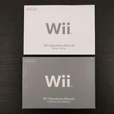 Nintendo Wii Console Operations / Instruction Manual Set System Setup RVL-001