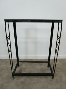 Vintage Mid Century Wrought Iron Fish Tank Aquarium Stand Metaframe