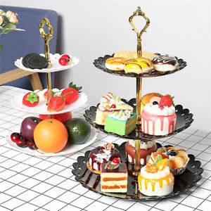 Three-Layer Fruit Cake Plate Dessert Rack Cupcake For Wedding Party Holder Tray