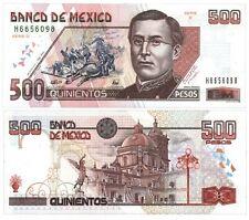 Banco de Mexico 500 Pesos Zaragoza 7-2-1995 Series D. P-110a UNC H6656098