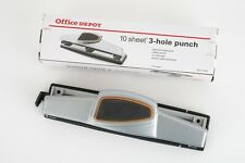 Office Depot 3 Hole Paper Punch 932 With Box Adjustable Paper Guide