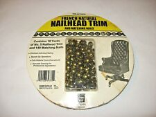 10 Yd Roll Upholstery French Natural No. 5 Nailhead Trim 140 Matching Nails